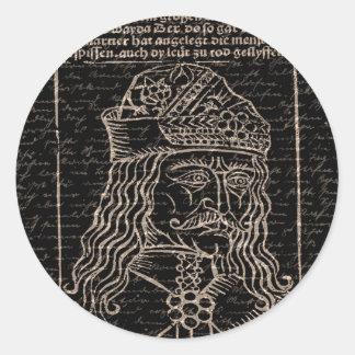 Count Vlad Dracula Round Sticker