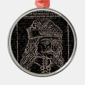 Count Vlad Dracula Silver-Colored Round Ornament