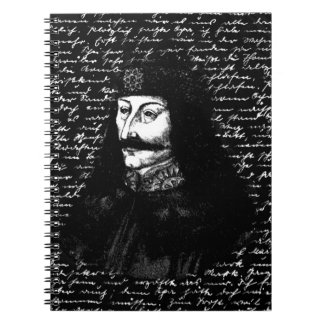 Count Vlad Dracula Spiral Note Book