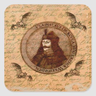 Count Vlad Dracula Square Sticker