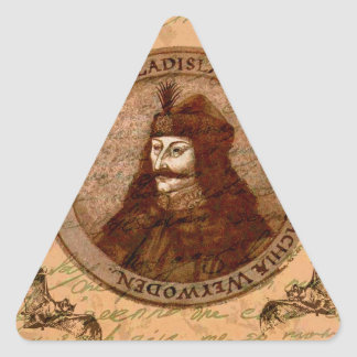 Count Vlad Dracula Triangle Sticker