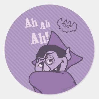 Count von Count - Ah Ah Ah! Classic Round Sticker
