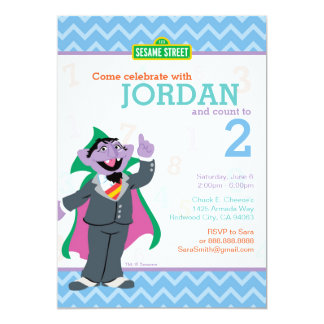 "Count von Count Birthday 5"" X 7"" Invitation Card"