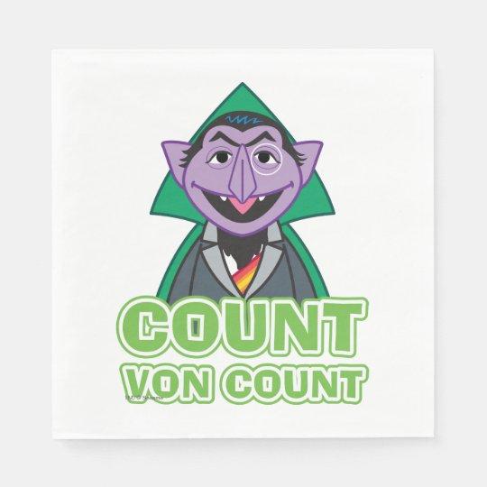 Count von Count Classic Style 2 Paper Napkin