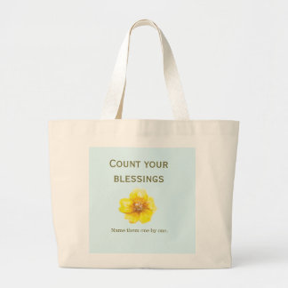 """Count Your Blessings"" - Jumbo Tote Bag"