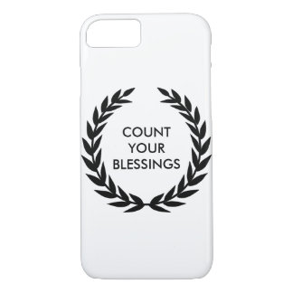 Count your blessings - Motivational Quote iPhone 8/7 Case