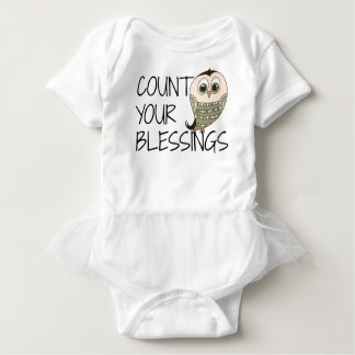 Count Your Blessings Owl Baby Bodysuit
