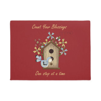 Count Your Blessings Welcome Mat