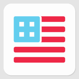 Countable Woot! Flag Square Sticker