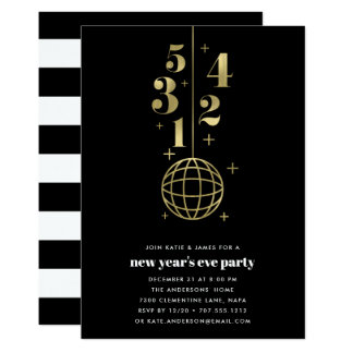 Countdown   New Years Eve Party Invitation