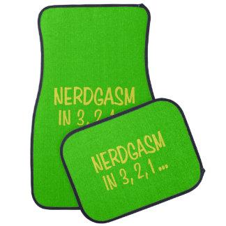 Countdown to Nerdgasm - Green Background Car Mat
