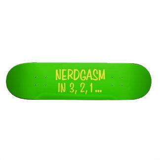 Countdown to Nerdgasm - Green Background Skateboard Deck