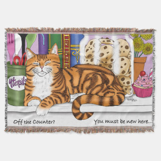 Counter Top Cat Throw Blanket
