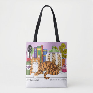 Counter Top Cat Tote Bag