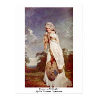 Countess Of Derby By Sir Thomas Lawrence Postcard