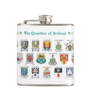 Counties of Ireland Flask