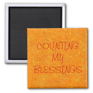"""COUNTING MY BLESSINGS"" MAGNET"