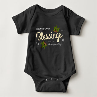 Counting Our Blessings | Christmas Baby Bodysuit