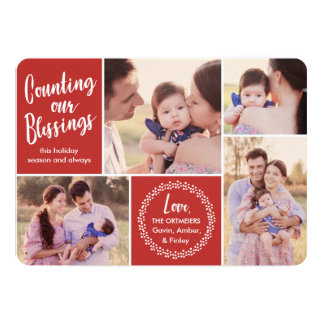 Counting our Blessings Holiday Photo Card