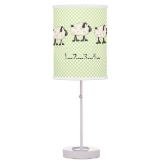 Counting Sheep Whimsical Bedroom Table Lamp