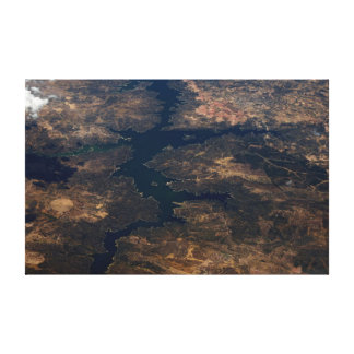 country and river stretched canvas prints