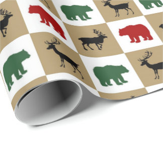 Country Animals pattern party wrapping paper