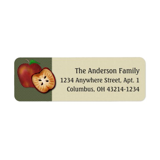 Country Apple Design Return Address Label