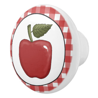 Country Apple Kitchen Ceramic knob