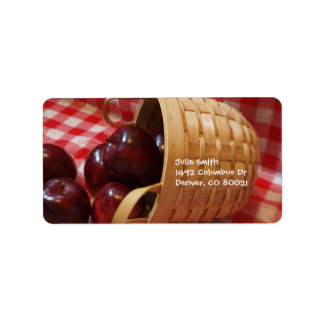 Country Apples on a Checkered Tablecloth