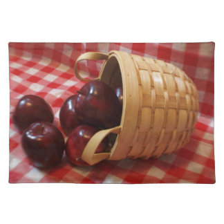 Country Apples on a Checkered Tablecloth Placemat