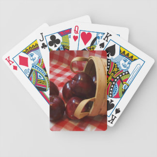 Country Apples on a Checkered Tablecloth Poker Deck