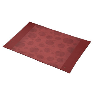 Country Apples (solid cranberry) Placemat