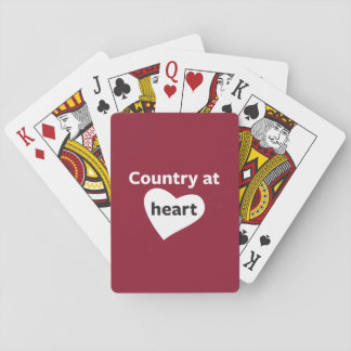 Country at Heart Playing Cards