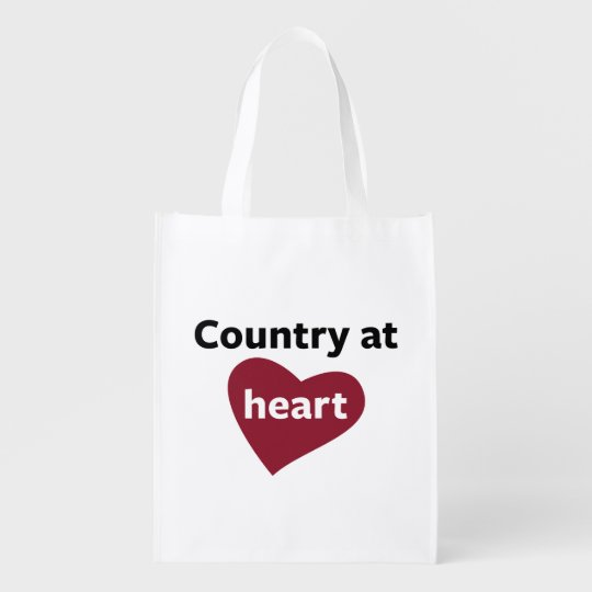 Country at Heart Reusable Grocery Bag