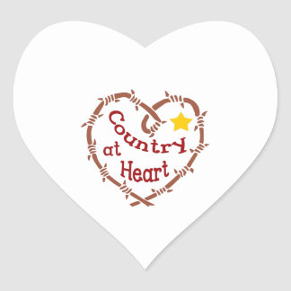 COUNTRY AT HEART HEART STICKER