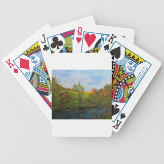 Country Autumn Bicycle Playing Cards