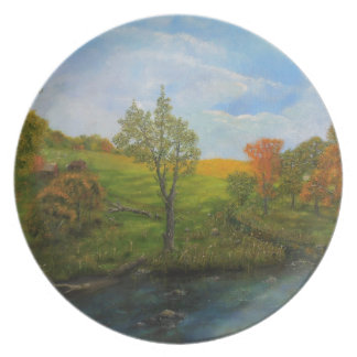 Country Autumn Plate