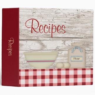 """Country Baking Recipe Binder (2"""")"""