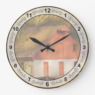 Country - Barn - Out to pasture Large Clock