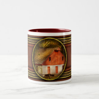 Country - Barn - Out to pasture Two-Tone Coffee Mug