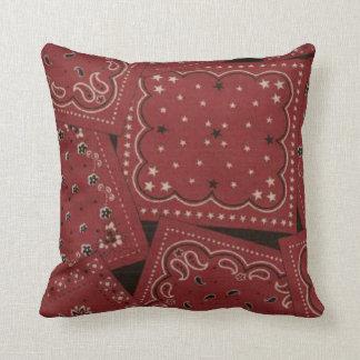 Country Barn Red Bandana Pattern MoJo Throw Pillow