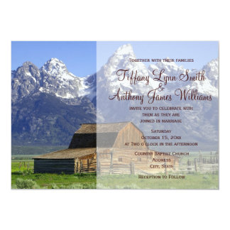 Country Barn Rocky Mountain Wedding Invitations
