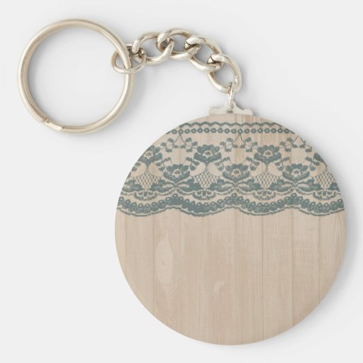 Country Barn Wood & Lace Key Chain