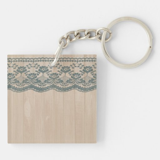 Country Barn Wood & Lace Acrylic Keychains