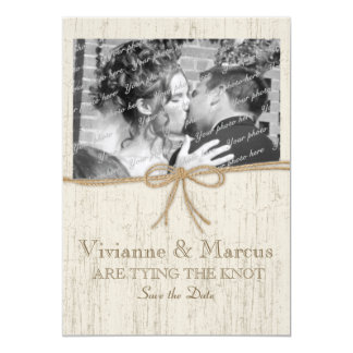 """Country Barn Wood Save the Date 5"""" X 7"""" Invitation Card"""