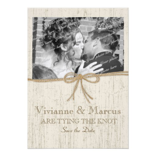 Country Barn Wood Save the Date Invites