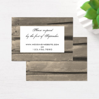 Country Barn Wood Wedding RSVP Response Card