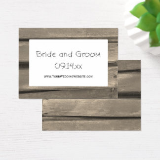 Country Barn Wood Wedding Website Card