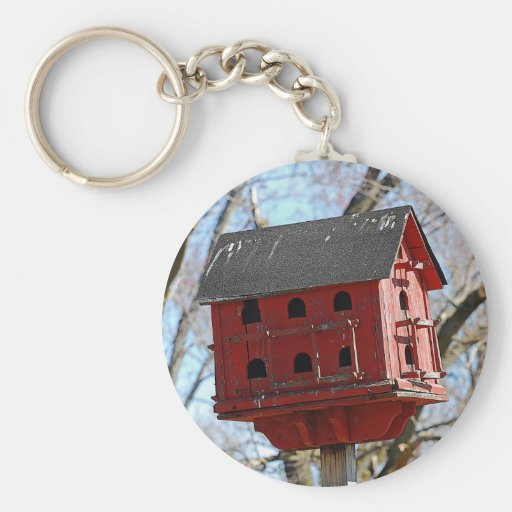 Country Birdhouse Keychain