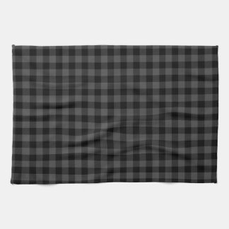 Country black and grey plaid kitchen towel